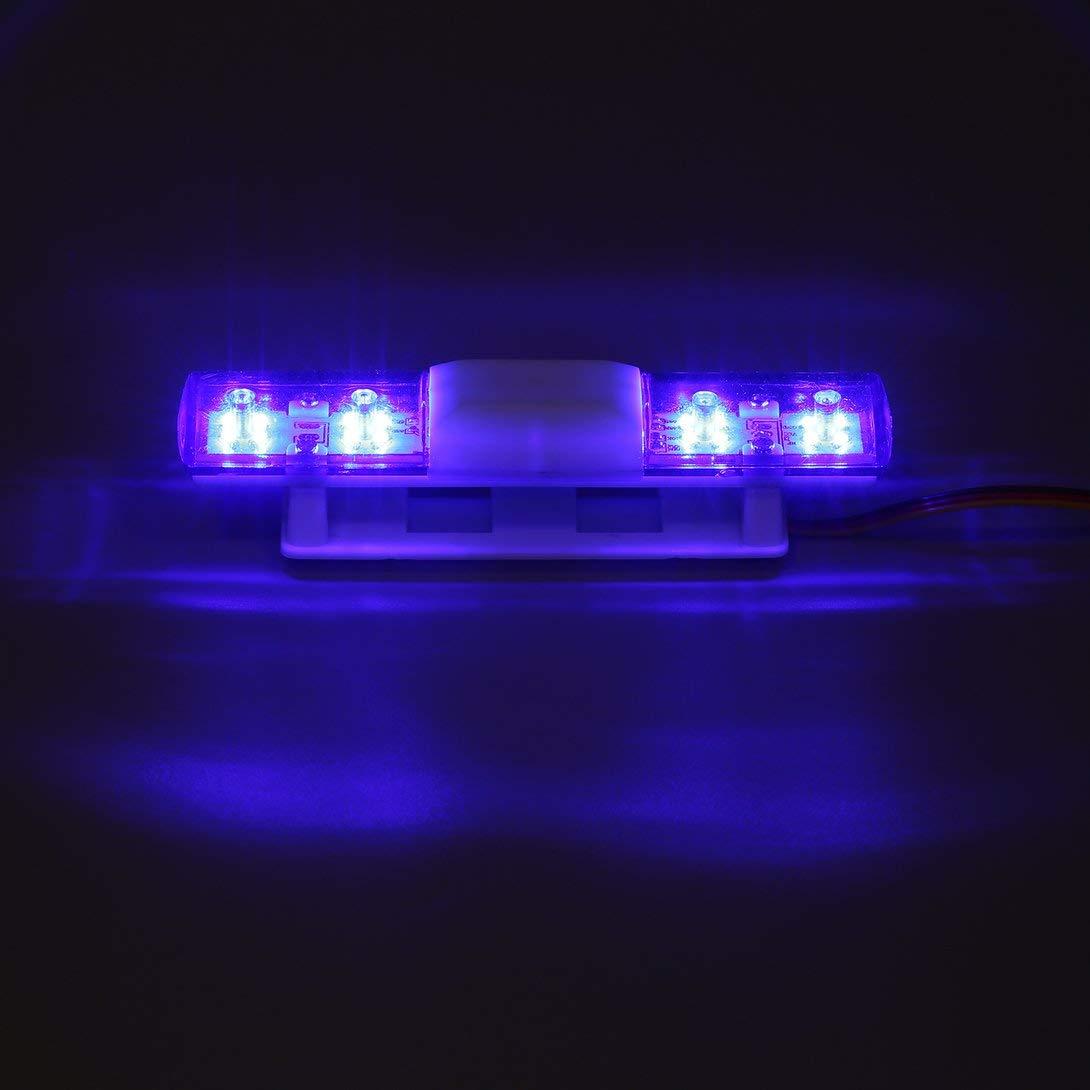 Swiftswan Lampade per auto RC Police Bright Rectangle LED Lampeggiante per 1//8 1//10 RC Model Trucks