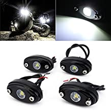 NOVSIGHT LED Rock Light Kits for JEEP ATV SUV Offroad Truck Boat Glow Trail Rig Lamp White 4pcs
