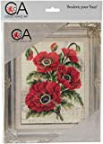 Rto Cd3149k Collection D'Art Stamped Needlepoint Kit 20x25cm-Poppies