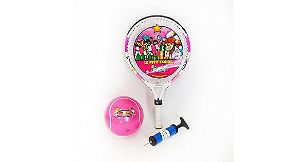 Amazon.com: Le Petit Tennis Pink raqueta 17 inches + Pink ...
