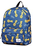 SIMPLAY Classic School Backpack Bookbag | 17''x12.5''x5'' | Trendy Pattern | Summer Pineapple