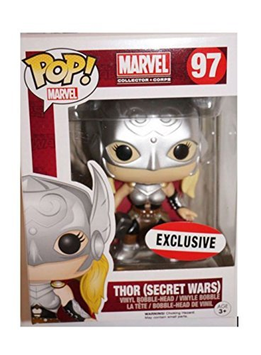 (MARVEL Collector Corps Secret Wars Funko POP! Lady Thor 97 Exclusive Bobblehead)
