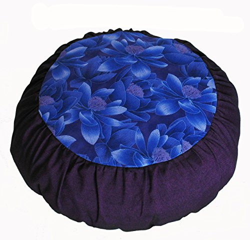 Meditation Cushion Zafu Pillow for Children - Lotus in the Moonlight Purple