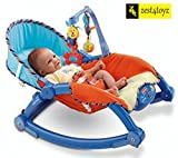 Zest 4 Toyz Newborn-to-Toddler Portable Rocker Bouncer Chair Easy to Take Along (Blue)