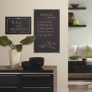 RoomMates RMK2750GM Decorative Chalkboard Peel and Stick Giant Wall Decals