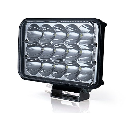Xprite 45 Watt 4x6 LED Headlight Sealed Beam Replacement HID Xenon H4651 H4652 H4656 H4666 H6545 Peterbilt Freightliner Kenworth (Pack of 1) -