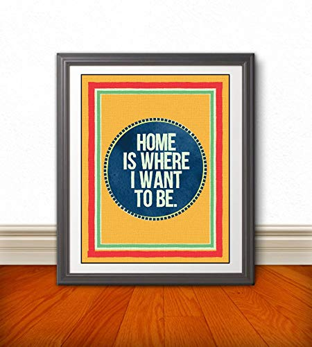 TALKING HEADS Inspired Poster Print This Must Be The Place Home 11x14| Wall Art Home Decor