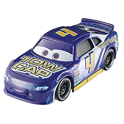Disney Cars Pixar Jack DePost Die-Cast Silver Rpm Fan with Flag Vehicle: Toys & Games