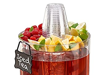 Buddeez 14401c-onl Party Top New Beverage Dispenser, 1.75 Gallon, Clear 2