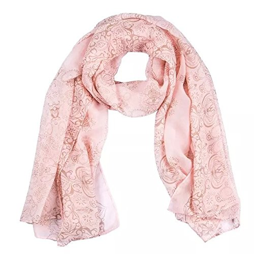 Chinoiserie Silk Chiffon Voile Printing Scarves Scarf (cuticolor)