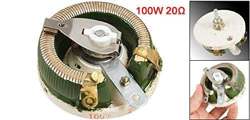 eDealMax a11082400ux0196 Ceramica Disk Reostato Potenza resistore variabile, 100W 20 Ohm