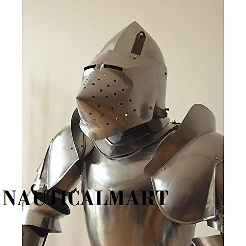 LARP- Medieval re-enactment 15th century suit of armor Milanese style costume
