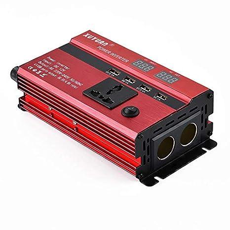 Coomir 1456/5000 Pantalla LCD del inversor de Corriente del Coche DC12V / 24V a convertidor de Onda sinusoidal de la energía Solar del USB de AC110V / 220V: ...