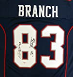 "New England Patriots Deion Branch Autographed Blue Jersey ""SB XXXIX MVP"" PSA/DNA Stock #106734"