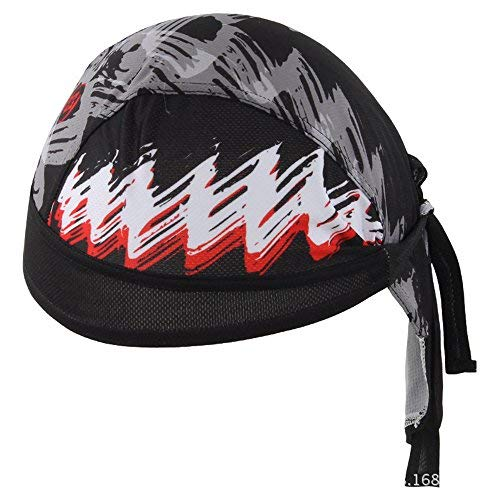 HYSENM Fashion Men Cycling Bandana Cap Sun UV Protection Sports Headwear Under Helmet Quick Dry Breathable Dust Proof, H-1