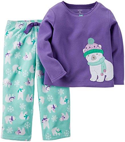 Carter's Baby Girls' 2 Piece Pj Set - Polar Bear - 18 (Girls Carters 2 Piece Pajamas)