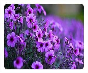 Bloom Design Rectangular Mouse Pad Purple Flowers