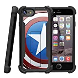 america phone case - Case for Apple iPhone 7 Plus | iPhone 7s Plus Case [Shockwave Armor] Heavy Duty iPhone 7 + Hybrid Layers Kickstand Case by Miniturtle - America Shield Hero