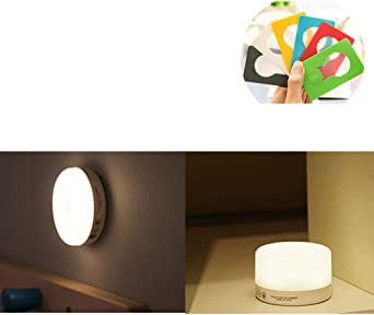 woolala Touch Light LED Adjustable Brightness Tap Light Push Night Light de 2 Pack with magnético and Adhesive Stick Anywhere for Children, Bedroom, Hallway, Closet: Amazon.es: Iluminación