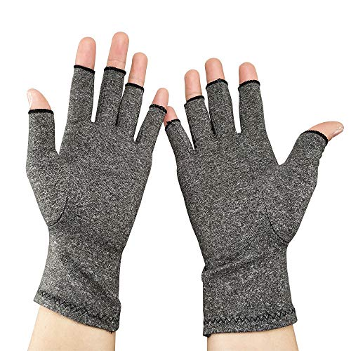New Cotton Ammonia Pressure Gloves Rehabilitation Training Plastic Non-Slip Chess and Entertainment Fishing Sports Breathable Care Pressure Gray Gloves