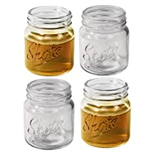 Mason Jar Shot Glasses – Set of 4, 2.5oz