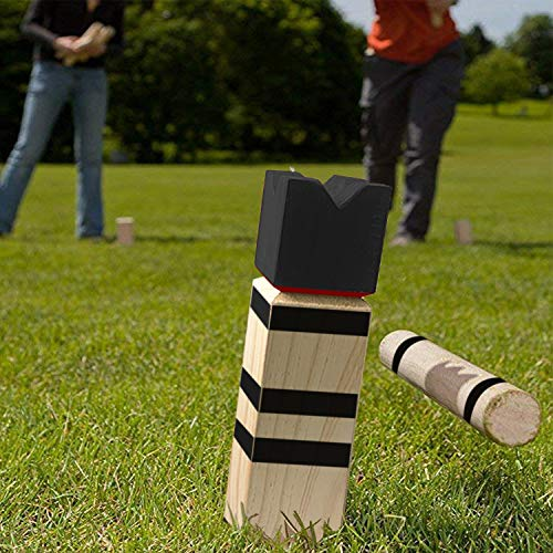 Viking Game for Outdoors the Perfect Game of Skill for Summer /… Kubb Gold Ocean 5 Wooden Game from Scandinavia with Carrying Bag
