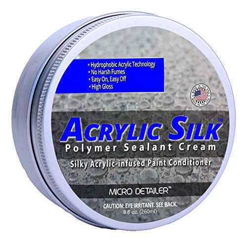 Micro Detailer Acrylic Silk-Silky Acrylic-Infused Paint Conditioner and Sealant Cream (Best Acrylic Paint Conditioner For Cars)