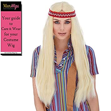 Amazon.com: Hippie with Headband Color 22 Blonde - Sepia ...