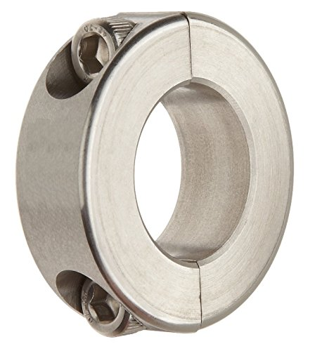 Big Bearing SDSC10X5/8 Stainless Steel Double Split Shaft Collar, 5/8'' Bore Size, 1-5/16'' Outside Diameter, 7/16'' Width