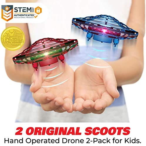 Force1 Scoot Duo Hand Drones for Kids – Kids Drone, Flying Ball Drone Toys for Boys and Girls (2Pk) 514nk1UjKzL