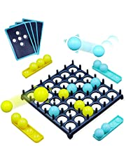 Bounce Off Game with Bouncing Pattern Challenges, for Family, Teens, Adults and Kids, with 16 Balls, 9 Challenge Cards and Game Grid, for 7 Year Olds and Up