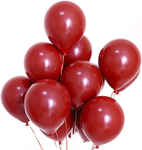 """5/"""" inch Small Plain Balloons Red White Valentines Baloons Helium//Air Quality"""