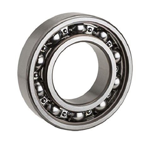 NTN Bearing 6206 Single Row Deep Groove Radial Ball Bearing, Normal Clearance, Steel Cage, 30 mm Bore ID, 62 mm OD, 16 mm Width, (Japanese Bearings)
