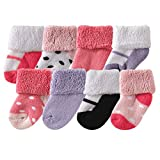 Best Yoga Sprout Baby Socks - Luvable Friends Baby 8 Pack Newborn Socks, Pink Review