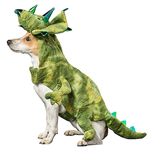 Thrills & Chills Dinosaur Triceratops Pet Dog Halloween Costume - Small ()