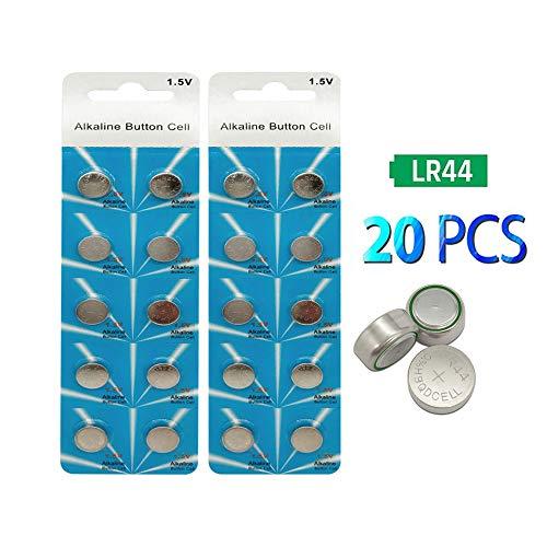20 Pack LR44/AG13 Battery 155mAh 1.5 Volt Alkaline Battery Coin Button Cell Battery