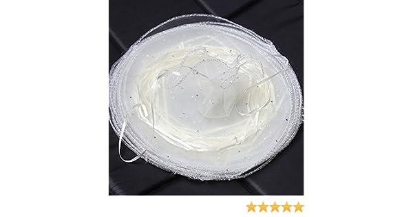 Bolsas de Organza para Regalo joyer/ía Color Blanco 100 Unidades Fiesta Morehappy7 26 cm de di/ámetro Redondas Bolsas de Regalo para Boda