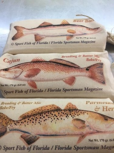 Key West Shrimp Co. all 3 signature seafood breading, beer batter, parmesan herb, cajun batter mix, fry or bake (Bake Mix Fish)