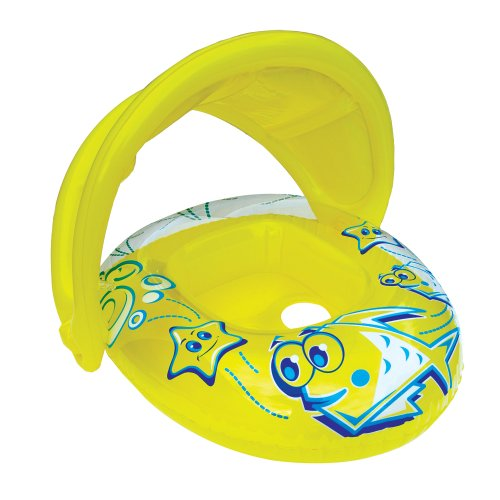 (Aqua Leisure SwimSchool Sunshade Baby Boat with Canopy, 6 to 18 Months)