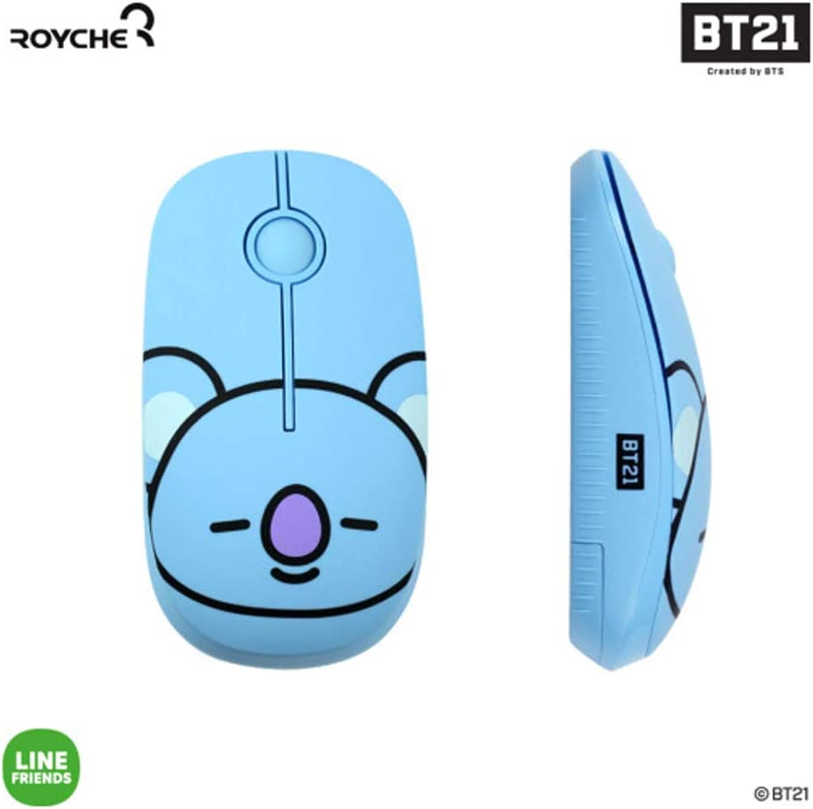 BT21 Figure Wireless Silent Mouse by Royche (Blue(Koya))