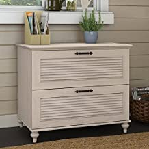 Bush Furniture Kathy Ireland Office Volcano Dusk Lateral Hanging File Cabinet, Driftwood Dreams Antique White Finish