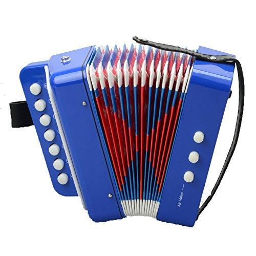 正規品販売! GREAT VALUE他Musical Instruments GREAT VALUE他Musical accordion-103プラスチックABS 7キー3ボタンKids小さな子のおもちゃピアノアコーディオンブルーB00MI7BY3U, バレーボール館:4829f5d8 --- rsctarapur.com