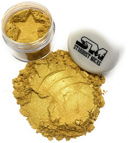 Stardust Micas Pigment Powder Cosmetic Grade Colorant for Makeup, Soap Making, Bath Bombs, DIY Crafting Projects, Bright True Colors Stable Mica Batch Consistency Queens Gold Cosmetic Grade Glitter