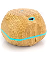 BellaSentials Essential Oil Diffuser Cool Mist Humidifier New Version Of Our Aroma Diffuser Featured In National Magazine For Dreamy Sleep Gadgets Aromatherapy 150ml Runs Up to 4 Hours - Light Bamboo