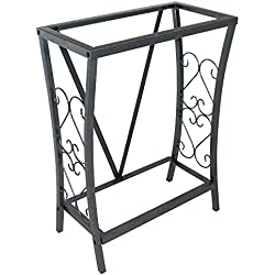 Aquatic Fundamentals Silver Vein Scroll Aquarium Stand - for 10 Gallon Aquariums, 20.9 IN