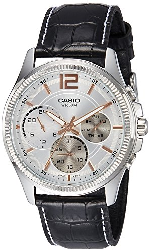 Casio Enticer Analog White Dial Men #39;s Watch   MTP E305L 7AVDF  A995