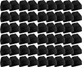 60 Pack Case Mens Womens Warm Winter Hats Wholesale Bulk, Unisex, by Excell (Black)