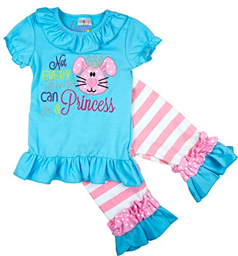 Boutique Clothing Girls Easter Not Every Bunny Can Be A Princess Capri Set 3T/M by Angeline