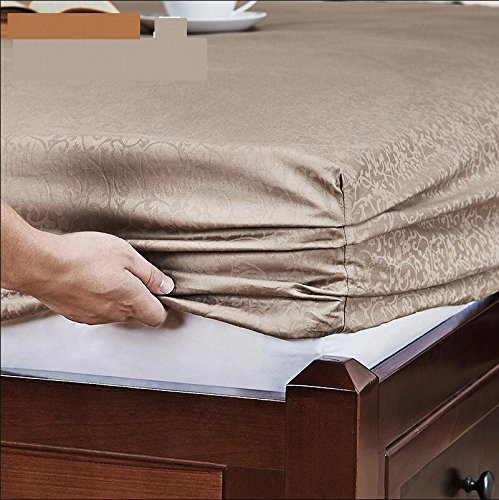 SL&CL Cotton bed cover,Single piece fabric sides wrap around elastic solid mattress cover bed set cotton jacquard bed cover-A 180x200cm(71x79inch)