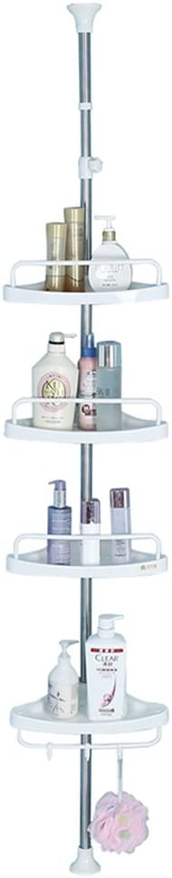 Baoyouni 4 Tier Bathroom Corner Shower Caddy Tension Pole Rust Proof Telescopic Rod Storage Rack Organizer Home Kitchen